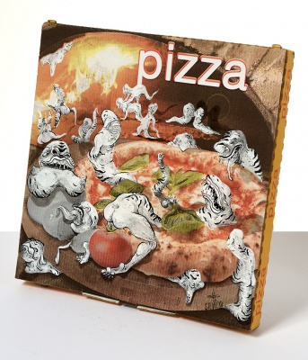 ''Everyone loves a dirty pizza'' custom pizza box by Stedhead