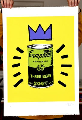 ''Three Bean Soup - green'' limited edition screenprint by Mark Perronet