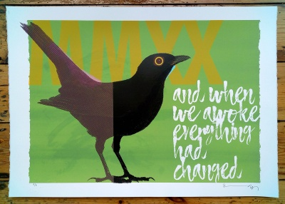 ''Blackbird MMXX'' limited edition screenprint by Richard Pendry