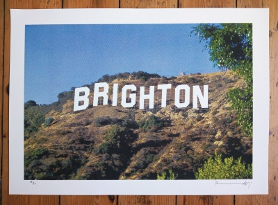 ''Brightonwood'' limited edition screenprint by Richard Pendry