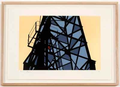 ''Crane (Bristol)'' limited edition screenprint by Richard Pendry