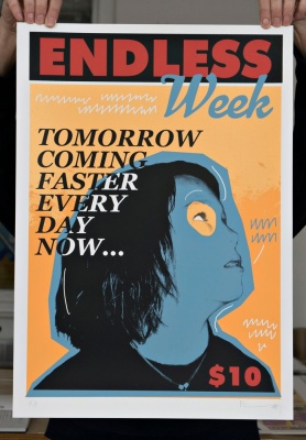 ''Endless Week - Alex'' limited edition screenprint by Richard Pendry