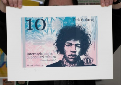 ''10 Dollar Jimi'' limited edition screenprint by Richard Pendry