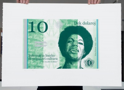 ''10 Dollar Nina'' large limited edition screenprint by Richard Pendry