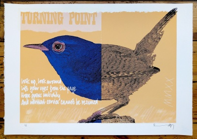''Wren MMXX'' limited edition screenprint by Richard Pendry