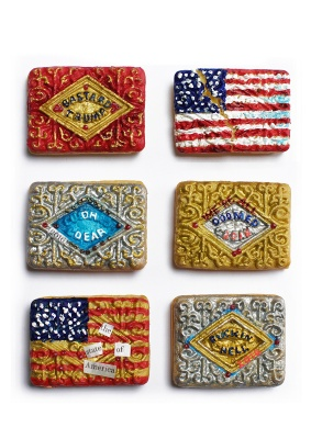 ''USA Protest Biscuits'' limited edition print by Sian Pattenden of Raw Art