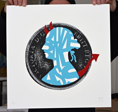''Quite Bad Ass'' limited edition screenprint by Quiet British Accent
