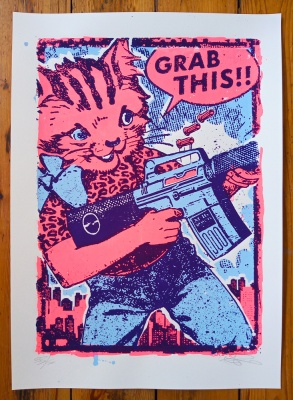 ''Grab This!'' limited edition screenprint by Ben Rider