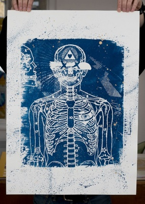 ''Thedi'' limited edition cyanotype print by Ben Rider