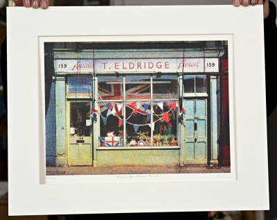 ''Artistic Florist'' limited edition screenprint by Richard Roberts