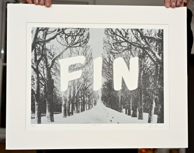 ''Fin IV'' limited edition screenprint by Richard Roberts