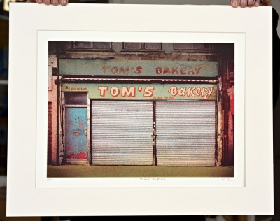 ''Tom's Bakery'' limited edition screenprint by Richard Roberts