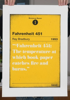 ''Fahrenheit 451'' limited edition screenprint by Serigrafica7585