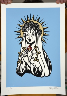 ''Chinko Maria'' limited edition screenprint by SAKI&Bitches