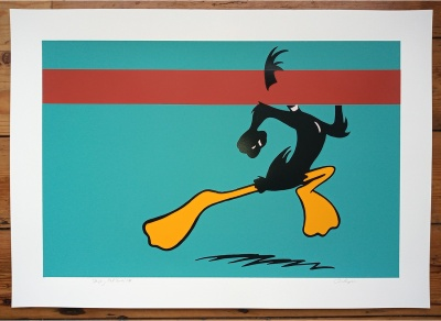 ''Daffy - Red Stripe'' limited edition screenprint by Carl Stimpson