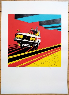 ''Dalston Junction Station'' PC version screenprint by Carl Stimpson