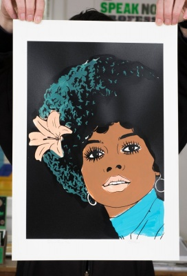 ''Diana Ross'' limited edition screenprint by Carl Stimpson