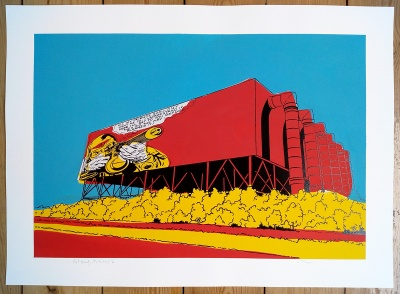 ''Get Ready'' PC version screenprint by Carl Stimpson