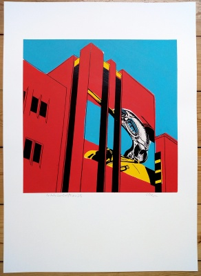 ''Manchester Crown Court'' PC version screenprint by Carl Stimpson