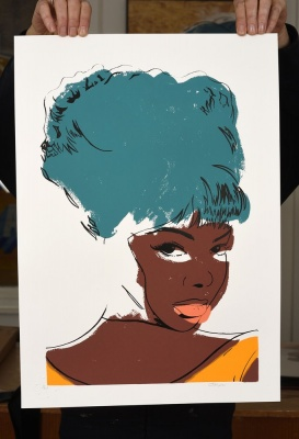 'Mary Wells' limited edition screenprint by Carl Stimpson