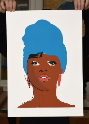 'Mary Wilson' limited edition screenprint by Carl Stimpson