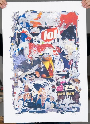 ''lol'' limited edition screenprint by David Shand