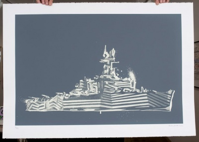 ''Dazzle Royale'' glow-in-the-dark screenprint by Nick Smith