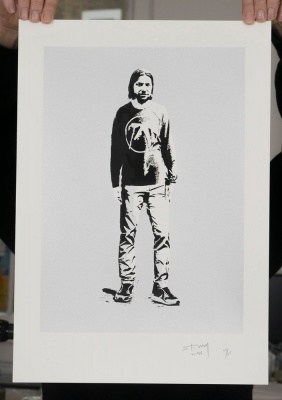 ''Aphex Twin'' limited edition screenprint by Stewy