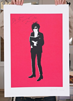 ''Dr John Cooper Clarke'' limited edition screenprint by Stewy