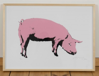 'Pig' limited edition screenprint by Stewy