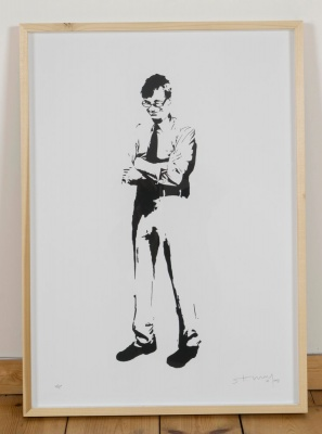 'Tony Wilson' limited edition screenprint by Stewy