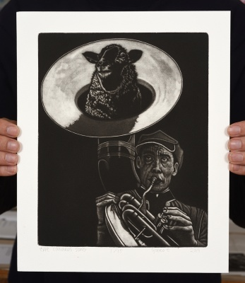 ''Cowards Song'' limited edition mezzotint print by Sjoerd Tegelaers