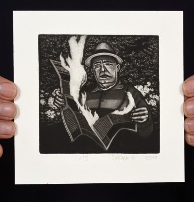 ''Daily Mail'' limited edition mezzotint print by Sjoerd Tegelaers