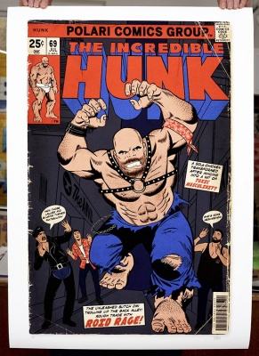 ''The Incredible Hunk'' limited edition print by Villain