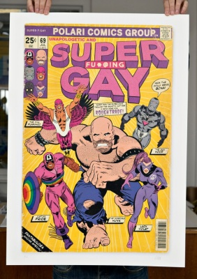 ''Super Fu*!?ng Gay'' limited edition print by Villain