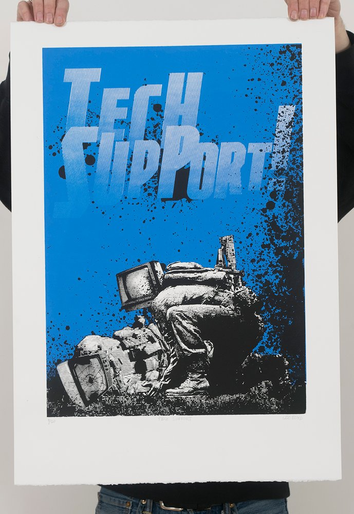 ''Tech Support'' limited edition screenprint by Leo Boyd
