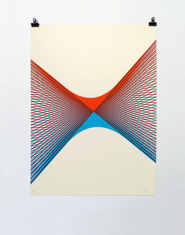 ''Touch'' limited edition screenprint by Yann Brien