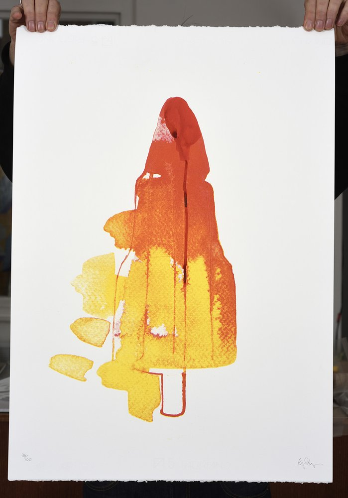 ''Rocket'' limited edition screenprint by Gavin Dobson