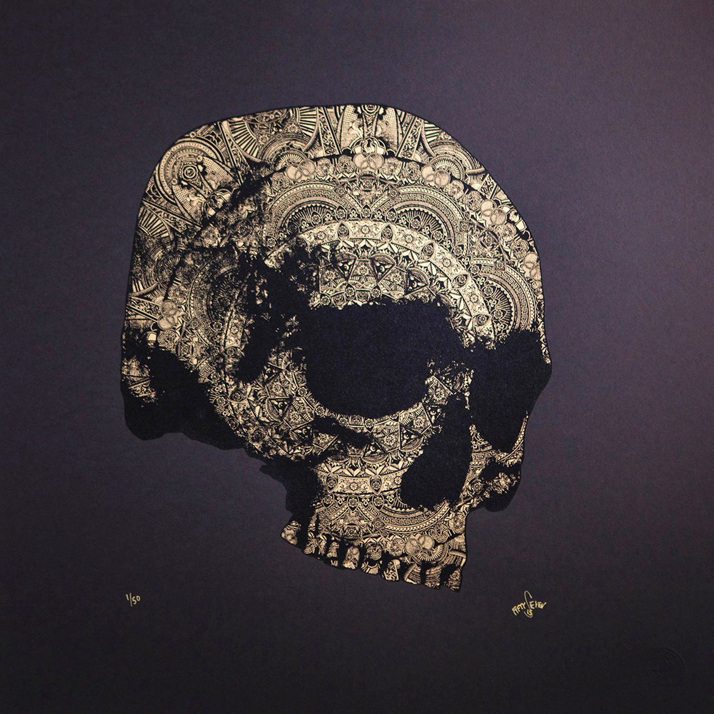 ''Skull: Version 2'' limited edition screenprint by 57 Design