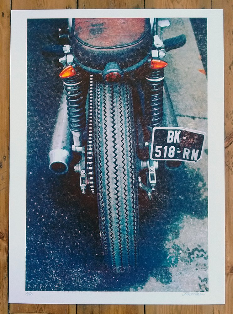 ''Triumph'' limited edition cmyk screenprint by Joseph Gibson
