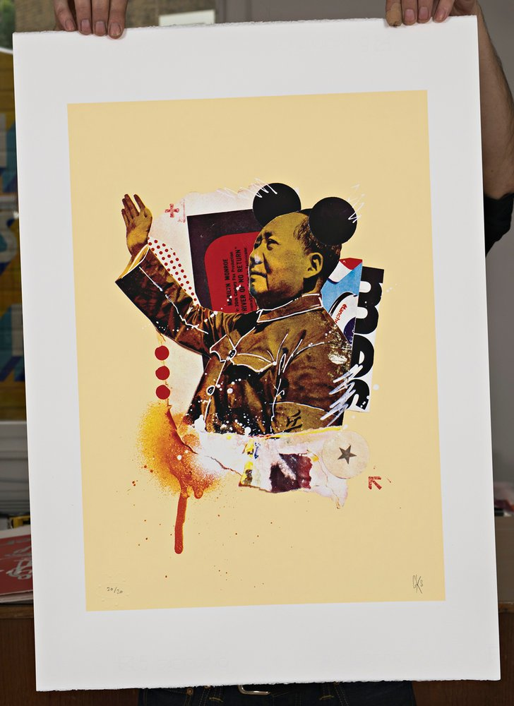 ''Mickey Mao'' limited edition CMYK screenprint by Graphikstreet