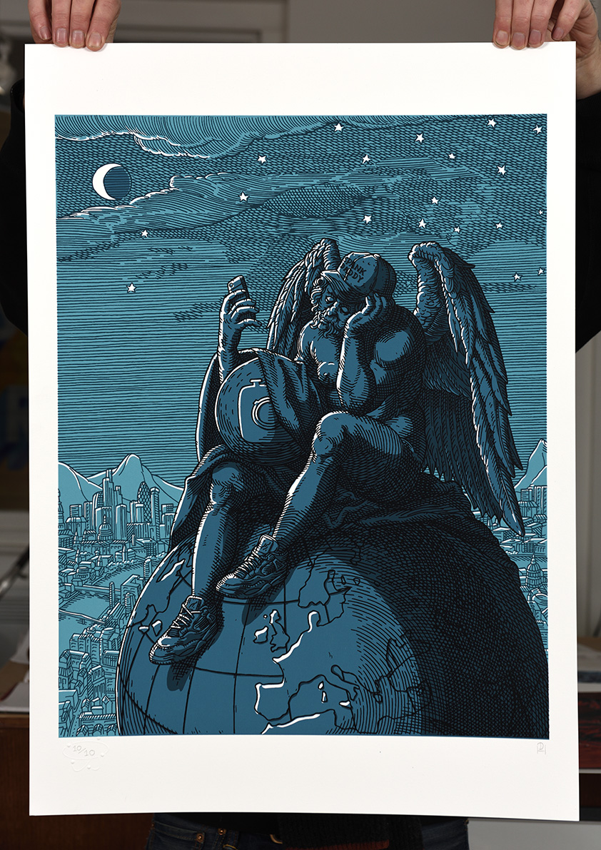 ''Melancholia 2.0'' limited edition screenprint by Daniel Hosego