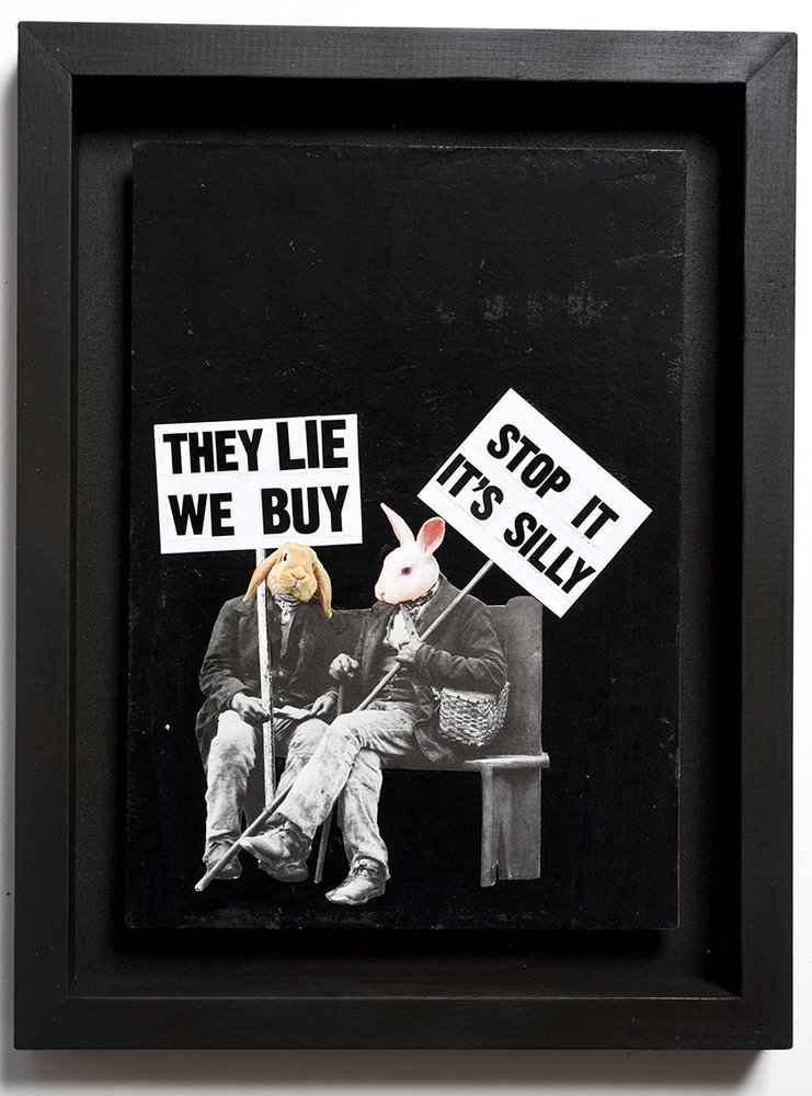 ''Stop it, it's silly'' original collage by Benjamin Irritant