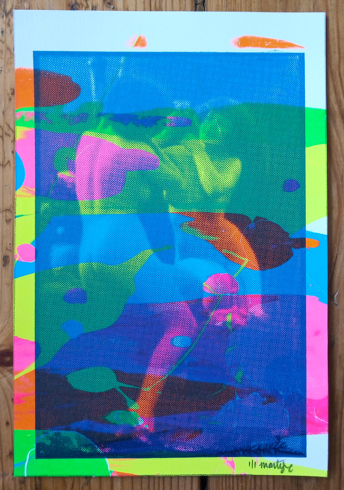 ''Neon Nude 5'' limited edition screenprint by Montez Makes