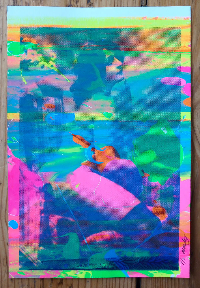 ''Neon Nude 8'' limited edition screenprint by Montez Makes