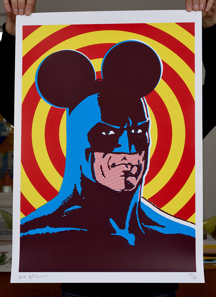 ''Ratman'' limited edition screenprint by Mister Edwards