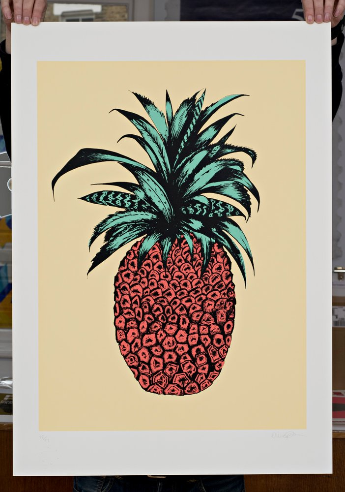 ''Pineapple (Yellow)'' limited edition screenprint by Emily Newson