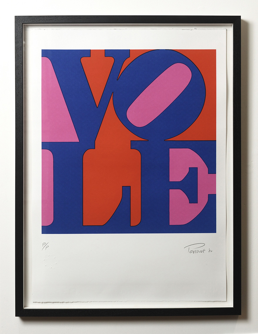 ''Vole 3'' limited edition screenprint by Mark Perronet