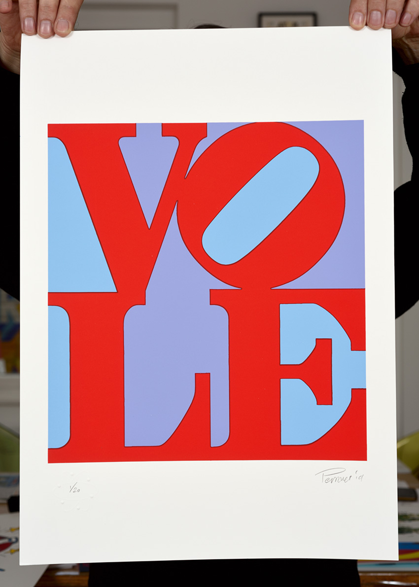 ''Vole 2'' limited edition screenprint by Mark Perronet