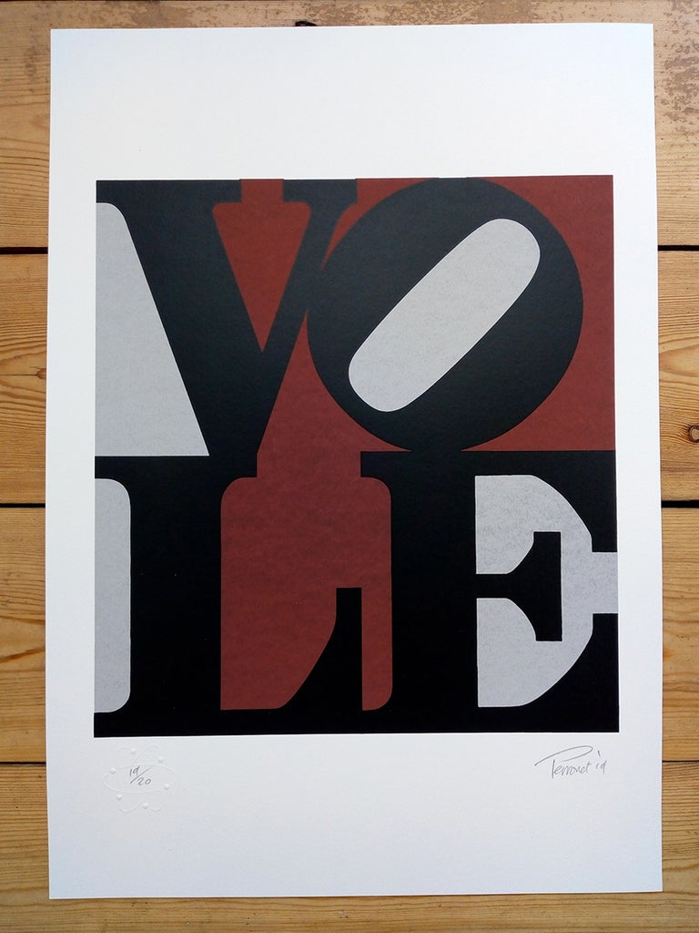 ''Vole'' limited edition screenprint by Mark Perronet